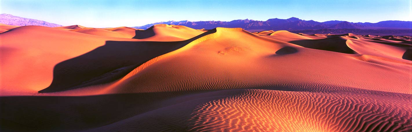 Panoramic Fine Art Photography ~ Panorama Landscape Photo Gallery ~ The Great Wall of China Sand Dunes, Death Valley National Park