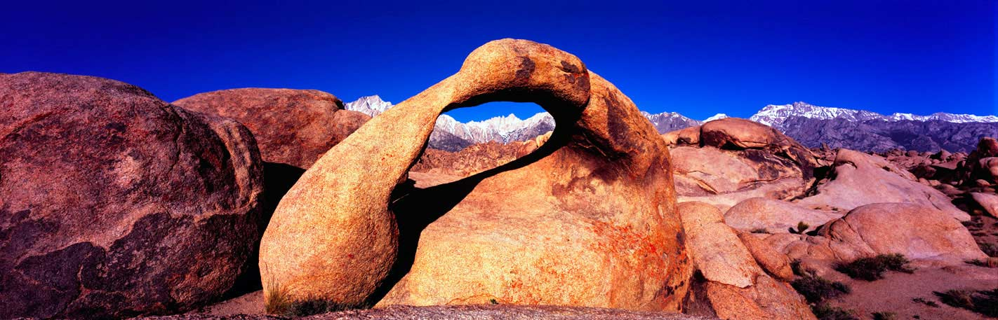 Panoramic Fine Art Photography ~ Panoramic Landscape Photo Images ~ The Arch, Alabama Hills, Lone Pine, Calif.
