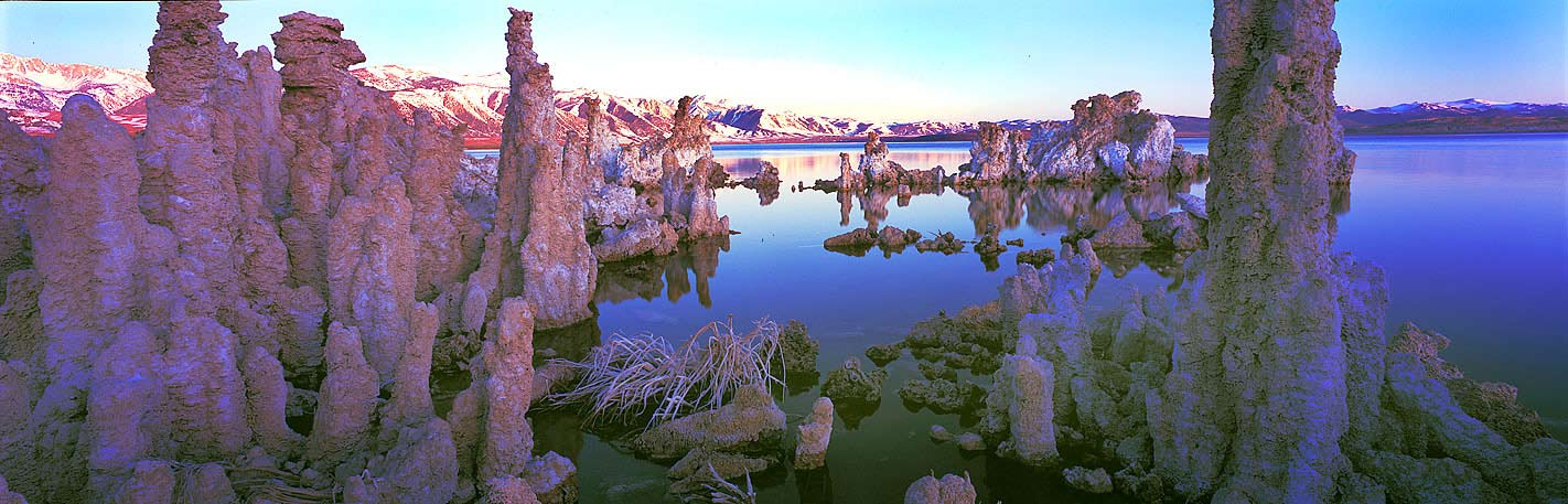 Panoramic Fine Art Photography ~ Panoramic Landscape Photo Gallery ~ Magical Reflections at South Tufas, Mono Lake, Eastern Sierra