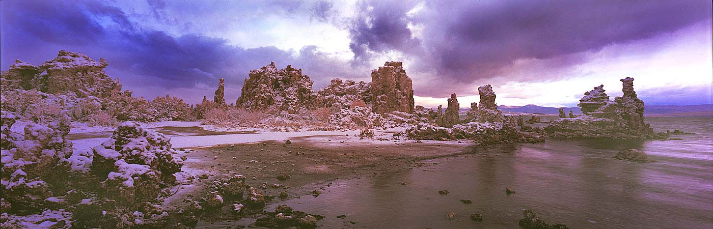 Panoramic Fine Art Photography ~ Panorama Landscape Photo Gallery ~ After the Winter Storm at South Tufas, Mono Lake Eastern Sierra