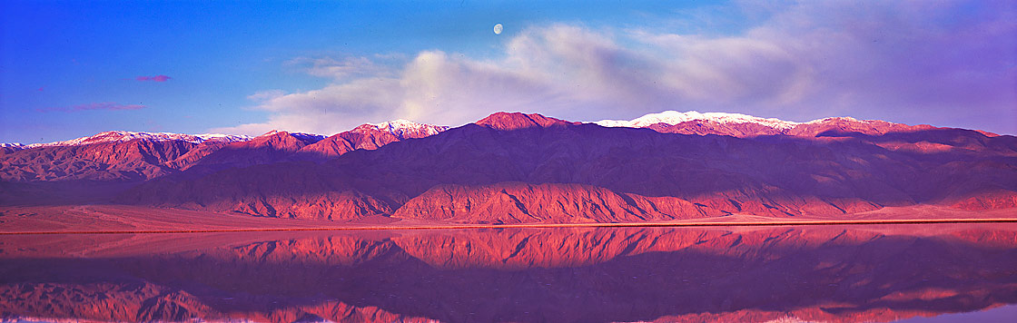 Panoramic Fine Art Photography ~ Panorama Landscape Photo Gallery ~ Perfect Reflection at Salt Creek, Death Valley
