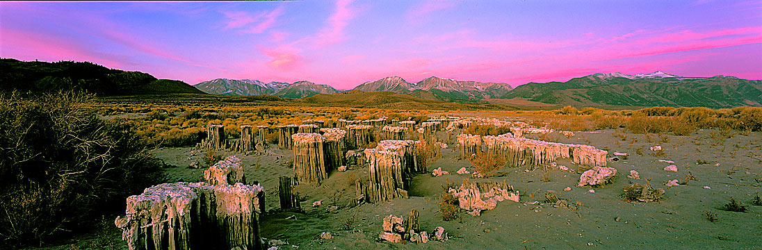 Panoramic Fine Art Photography ~ Panorama Landscape Photo Gallery ~ Sand Tufas at Navy Beach , Mono Lake, Eastern Sierra