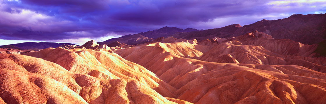 Panoramic Fine Art Photography ~ Panorama Landscape Photo Gallery View Toward 20 Mule Team Canyon, Death Valley
