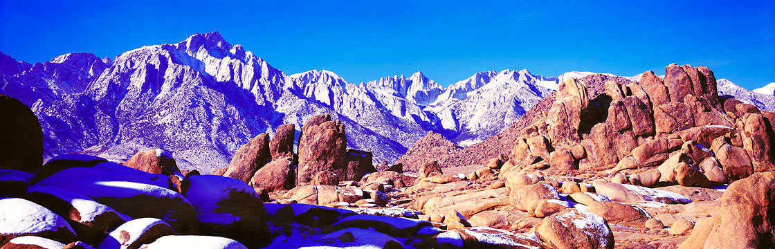 Panoramic Fine Art Photography ~ Panoramic Landscape Photo Gallery ~ Gene Autry Rock, Alabama Hills, Lone Pine, Calif.